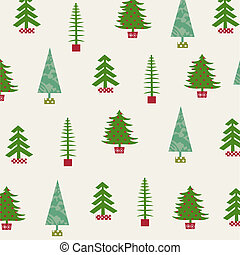 Set of Christmas trees - Collection Christmas trees on the...
