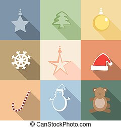 Set of Christmas vector cartoon