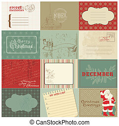 Set of Christmas Vintage Design Elements in vector