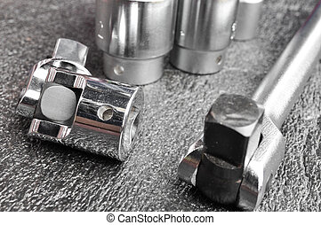 Set of chromeplated wrench
