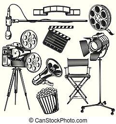 Set of cinema elements
