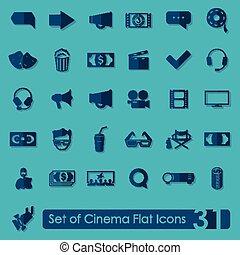 Set of cinema icons