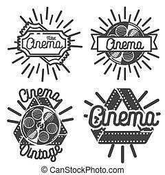 Vintage cinema emblems
