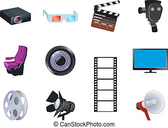 Set of cinematographic objects