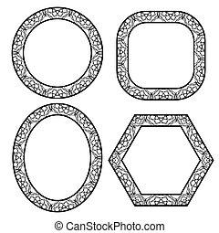 Set of Circle Decorative Frames