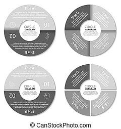 Set of circle diagram
