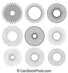 Set of Circle Geometric Ornaments