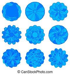 Set of Circle Geometric Ornaments.
