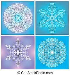 Set Of Circle Lacy Patterns