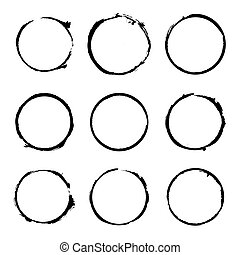 Set of Circles Empty Stamps. Vector Icons
