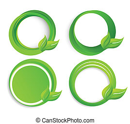 Set of circles with leaves