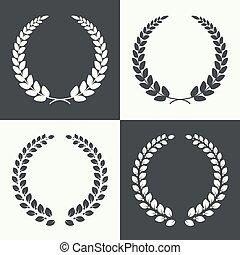 circular laurel wreath.