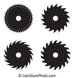 Set of circular saw blades. - Set of circular saw blades,...
