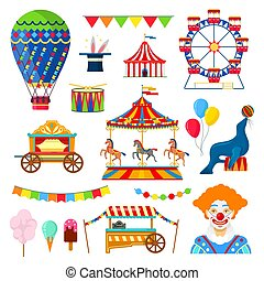 circus and amusement icons