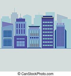 Set Of City Buildings.