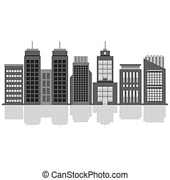 Set Of City Buildings.