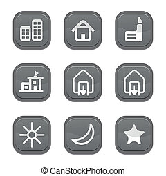set of city icon, vector
