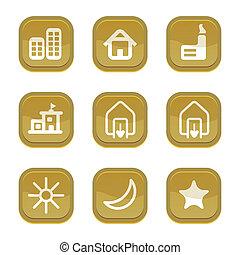 set of city icon, vector