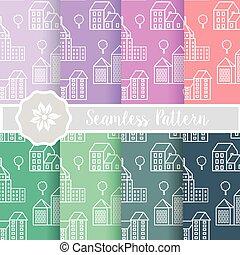 architecture seamless pattern