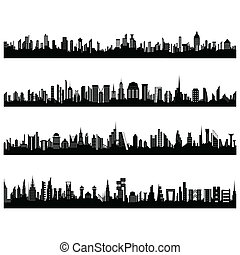 Set of Cityscape - illustration of set of cityscape...
