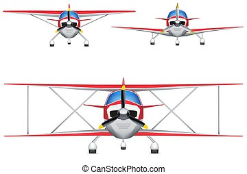 Set of Civil Light Aircraft