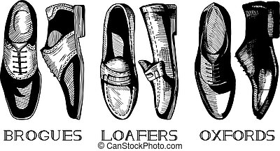 Set of classic men's shoes