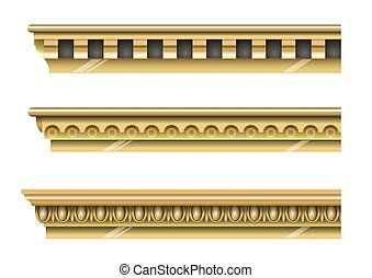 Set of classical gold cornices - A set of classical gold...