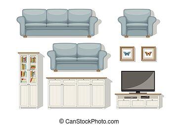 Set of classical living room furniture