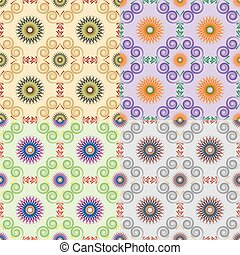 Set of classical seamless patterns