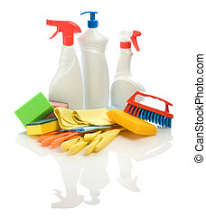 set of cleaning articles