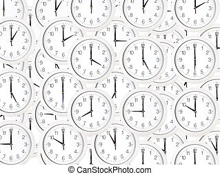 Set of clock faces