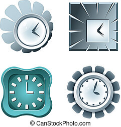 Set of clock icons