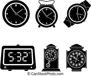 Set of clock icons