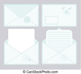 set of closed and open envelopes.