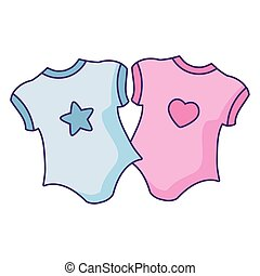 set of clothes baby isolated icon