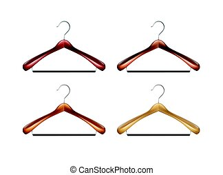 Set of clothes hangers