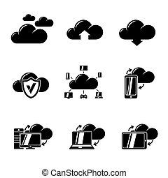 Set of Cloud Computing icons. Vector