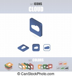 Set of cloud icons.