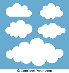 Set of clouds, vector illustration