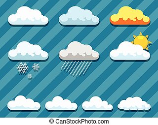 Set of clouds vector illustration