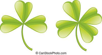 Set of clover leaves