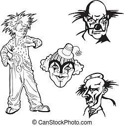 Set of clowns