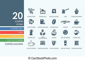 Set of coffee icons