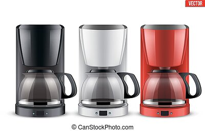Set of Coffee maker with glass pot.