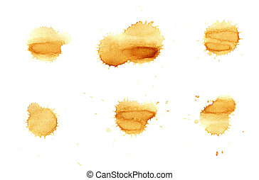 set of coffee stains