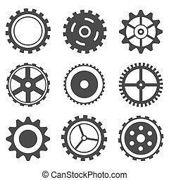 Set of Cog Wheel - illustration of set of different cog ...