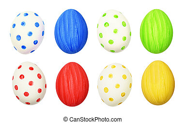 Set of cololrful Easter eggs