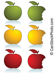 Set of color apples