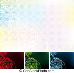 set of color backgrounds