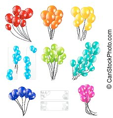 Set of Color Balloons, Vector Illustration